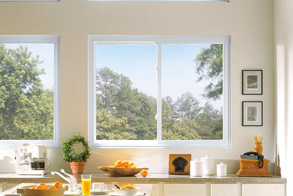 slider windows inside a kitchen