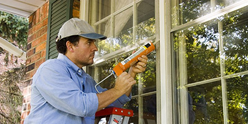 window caulking done by a professional